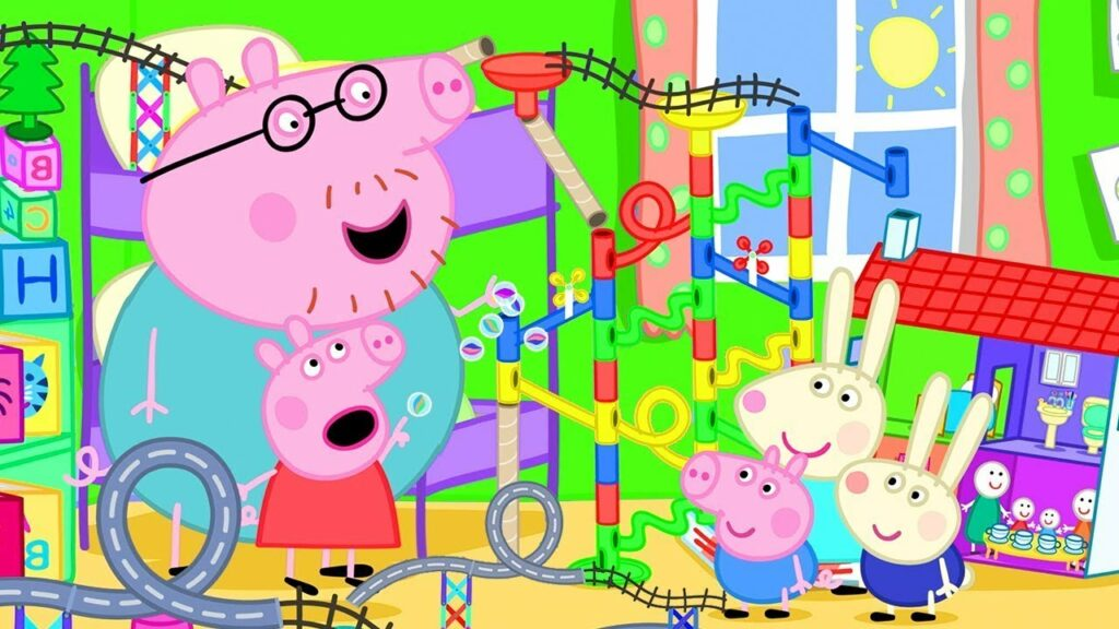 Peppa Pig Official Channel   The Biggest Marble Run Challenge with Peppa Pig